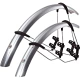 SKS Race Blade Road Bike / Cycle Front and Rear Mudguard Set 700 x 18-23c Silverby Sks