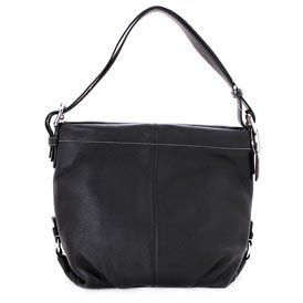 COACH Women's Black Leather Shoulder Bag: Black Shoulder