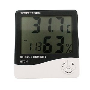 LCD Display Temperature and Humidity Meter with Alarm Clock Hygrometer $1