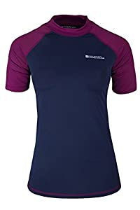 Mountain Warehouse Rash Vest UV Protection Womens Swimming Diving Surfing Top Berry 8