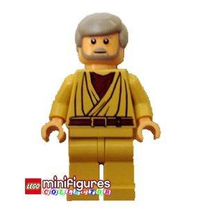 Lego Star Wars Mini Figura - Obi Wan Kenobi w/ Bianco Pupils & Lightsaber (A N...
