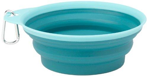 Petrageous 1-Cup Casey'S Collapsible Pet Bowl, Aqua
