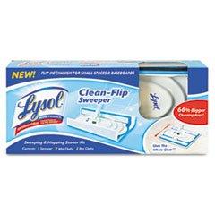 "** Lysol Clean-Flip Sweeper, 44-1/2"" Aluminum Handle, 10-2/5"" Mop Head, Blue/White front-568396"