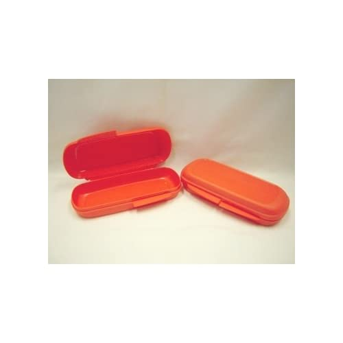 Amazon.com - Tupperware SNACK BAR Granola Bar KEEPER SET Orange NEW - Food Savers