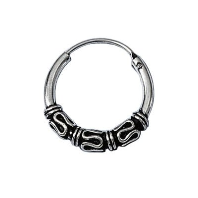 Sterling Silver 18 mm Celtic Knot Creole Hoop Earrings