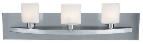 Access Lighting 53303-BS Cosmos 3-Light Wall/Vanity Sconce, Brushed Steel with Opal Glass