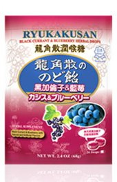 Ryukusan Black Currant And Blueberry Herbal 26 Drops In A Bag