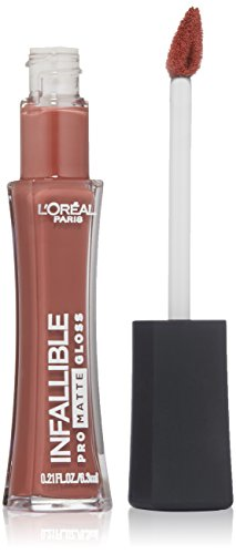L'Oreal Paris discount duty free L'Oreal Paris Cosmetics Infallible Pro-Matte Gloss, Bare Attraction, 0.21 Fluid Ounce