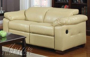 ACME 50281 Darcel Bonded Leather Motion Loveseat with 2 Recliners, Black