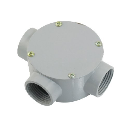 """Dimart G1"""" Right Angle Three Hole Connecting Metal Round Water-Proof Junction Box"""
