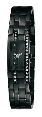 Esprit 4362969 - Reloj analógico de mujer de cuarzo con correa de acero inoxidable negra - sumergible a 30 metros