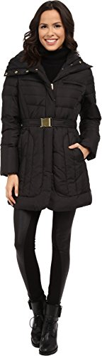 Cole Haan Women's Belted Single Breasted Down Jacket Black Outerwear MD (US 8-10) (Cole Haan Womens Jacket compare prices)