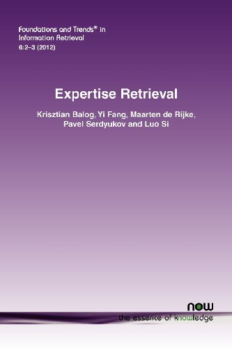 Expertise Retrieval (Foundations and Trends(r) in Information Retrieval)