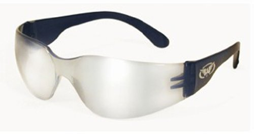 Global Vision Eyewear Rider Safety Glasses, Clear Mirror Lens (Mask Chopper Motorcycle compare prices)