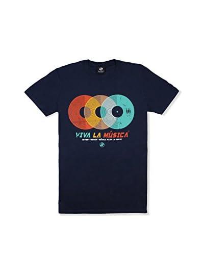 Seventy Seven Camiseta Manga Corta Viva La Musica Azul Marino