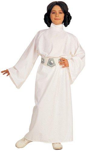[Star Wars Child's Deluxe Princess Leia Costume, Medium Color: Multicoloured Size: Medium Model:] (Authentic Princess Leia Costumes)