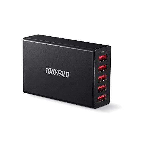 BUFFALO 8A USB急速充電器 5ポートタイプ (40W) AUTO POWER SELECT機能搭載 ブラック BMP40WP5BK Nintendo classic mini対応