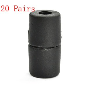 Bluecell 20 Pairs Of Black Color Barrel Connector Buckle For Diy Outdoor Paracord Lanyard/Necklace front-297020