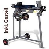 STAHLMANN® Holzspalter 7 Tonnen / 520mm liegend (inkl. Spaltkreuz und Tisch!) mit stufenlos verstellbaren Spaltweg...