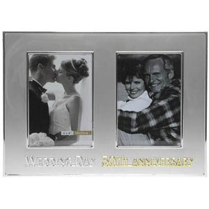 50th Wedding Anniversary Then & Now Photo Frame