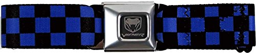 buckle-down-dodge-viper-seatbelt-belt-more-colors-black-and-blue-checkerboard-one-size-fits-most