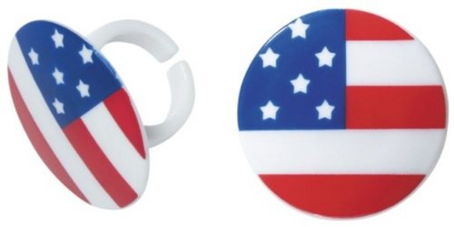 DecoPac American Flag Cupcake Rings (12 Count)