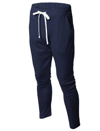 H2H-Mens-Active-Training-Basic-Jersey-Jogger-Pants-Lightweight-Of-Various-Colors