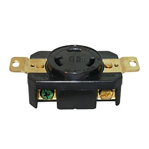 Superior Electric Ygp024F 30 Amps, 125V, Nema L5-30R Twist Male Heavy-Duty 3-Prong Replacement Electrical Wall Mount Locking Receptacle front-46799