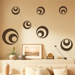 Abstract Circle Print Home Decor Vinyl Wall Sticker Wall Decal
