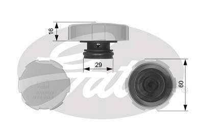 Gates-RC231-Bouchon-rservoir-de-liquide-de-refroidissement