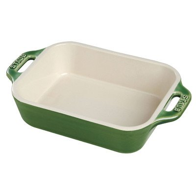 """Rectangular Dish Color: Basil, Size: 10.5"""""""