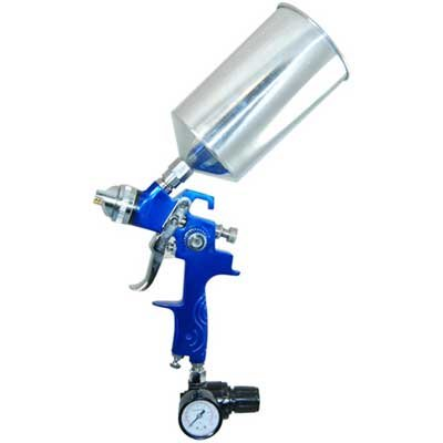 TCP Global® Brand Professional HVLP Spray Gun with 1.8mm Fluid Tip and Regulator