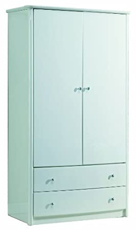 Birlea Aztec 2-Door 2-Drawer Wardrobe, White