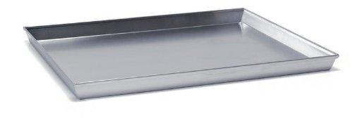 Ballarini 7044.45 Teglia Rettangolare, Angoli Svasati con Bordo in Alluminio Crudo, 45x35