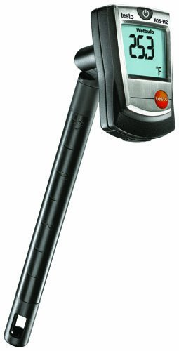 Testo 0560 6054 Digital Humidity Stick with Wet Bulb, 0 to 100 percent RH Range