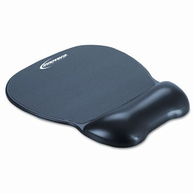 Innovera Gel Mouse Pad  Wrist Rest, Nonskid Base,