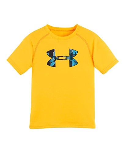 Under Armour Little Boys' Pre-School UA Anaglyph Big Logo T-Shirt 6 YUZU ORANGE