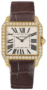 Cartier New Cartier Santos-dumont Small Solid Gold Watch Wh100451