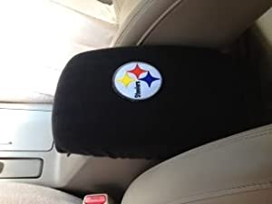 2002-2004 Chevy Tahoe Trucks SUV'S AutoCenter Armrest Console Cover with Pittsburgh Steeler Patch at Steeler Mania