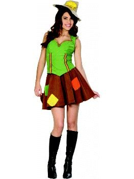 Wizard of Oz - Sassy Girl Scarecrow Teen Costume Size 3-5