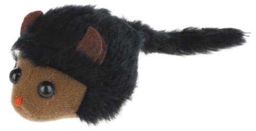 Knight Pet Running Mouse Toy with Catnip, Black, 5-1/2-Inch