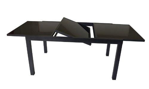 Ausziehtisch-TORINO-150210x90cm-Aluminium-Glas-schwarz