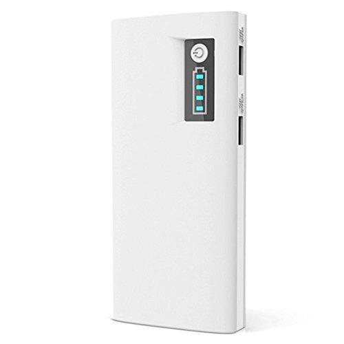 Leistung AZTECH 13000 mAh 2,1 A/1 A Dual USB Port High Capacity Externer Akku/Ladegerät mit LED Betriebsanzeige für Samsung Galaxy Ace 4 LTE Smartphone (weiß)