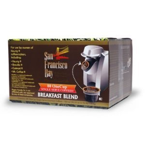 San Francisco Bay Coffee One Cup for Keurig K-Cup Brewers, Breakfast Blend, 80-Count & FREE MINI TOOL BOX (ml)
