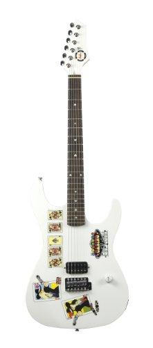Axl As-711-Wh Poker Elecrtic Guitar, White