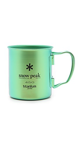 Snow Peak Men's Single Wall 450 Mug, Green, One Size (Titanium Single Wall Cup compare prices)