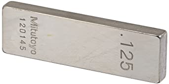 Mitutoyo Steel Rectangular Gage Block, ASME Grade 0, Inch