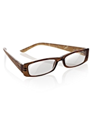 Rectangular Abstract Print Full Frame Reading Glasses