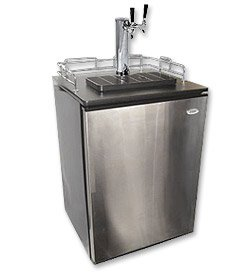 Best Buy! Haier Stainless Door Kegerator Cabinet with Beverage Factory 2 Tap Dispense Kit