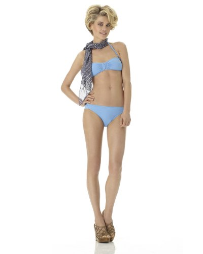 Solid Bikini with Ruching & Crisscross Details
